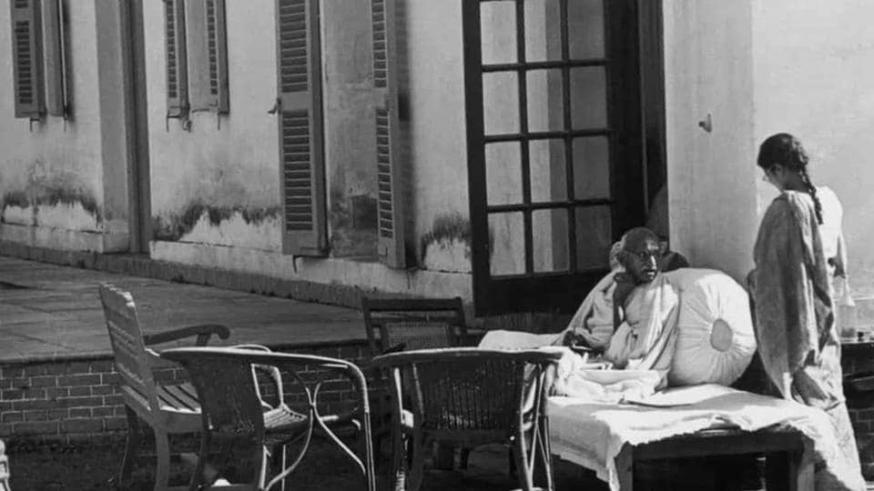 Gandhi, a day before his assassination at Birla House, New Delhi.