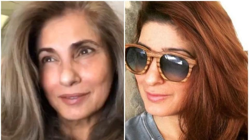 Dimple Kapadia was spotted with daughter Twinkle Khanna in Mumbai on Wednesday.