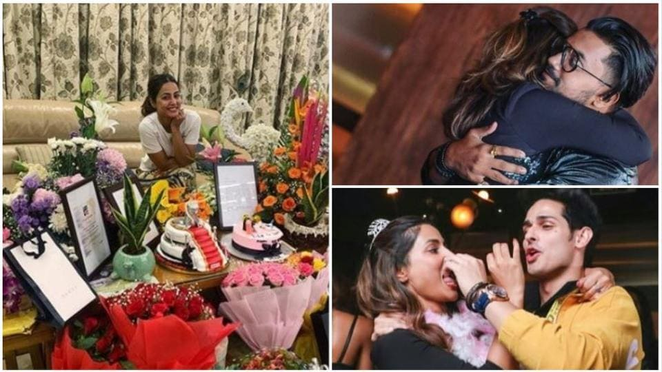 Hina Khan has shared pics of her birthday party.