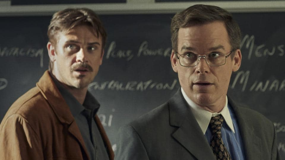 In the Shadow of the Moon movie review: Boyd Holbrook and Michael C Hall in a still from the new Netflix film.