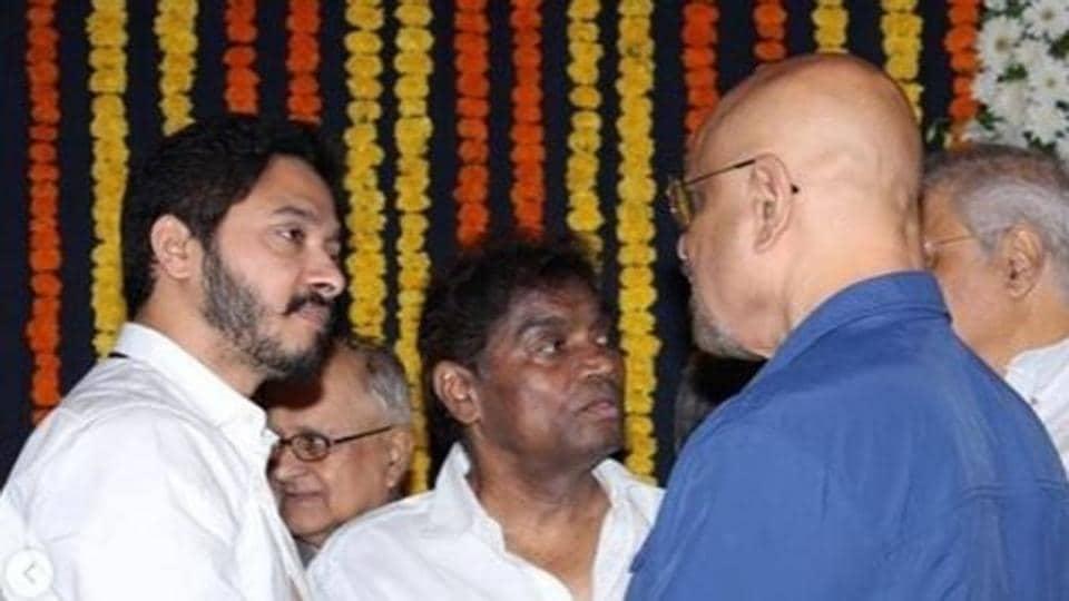 Shreyas Talpade at Viju Khote's prayer meet in Mumbai.