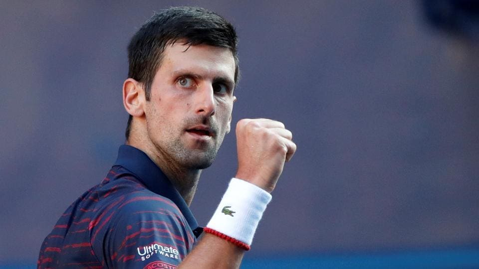 File image of Serbian tennis star Novak Djokovic.