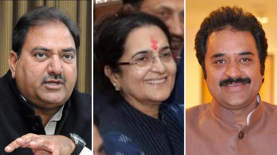 (From left to right) Abhay Singh Chautala, Kiran Chaudhry and Kuldeep Bishnoi belong to the well-known political families of Haryana and are contesting the Haryana assembly elections.