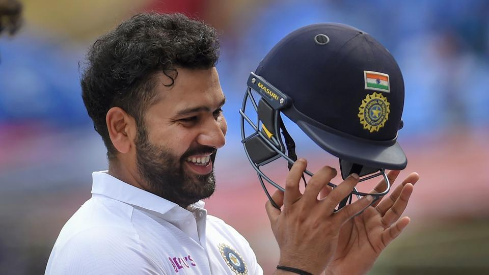 Rohit Sharma during the 1st Test cricket match against South Africa in Visakhapatnam.