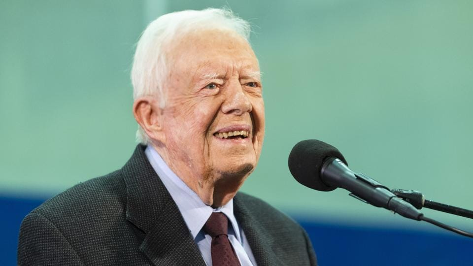 Former President Jimmy Carter had a black eye and 14 stitches after falling at his Georgia home.