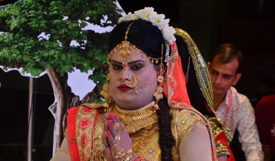 Govind Maurya, a popular Ramlila actor in Gurugram, speaks about playing Sita for 17 years in a row.