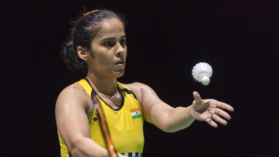Saina Nehwal during the BWF Badminton World Championships.