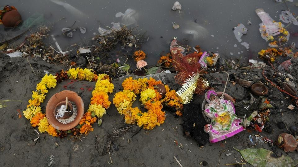 Hindustan Times visited two of the major ghats in the city — Kalindi Kunj and ITO — on Tuesday, where scores of devotees gather every year for the immersion of Durga idols.