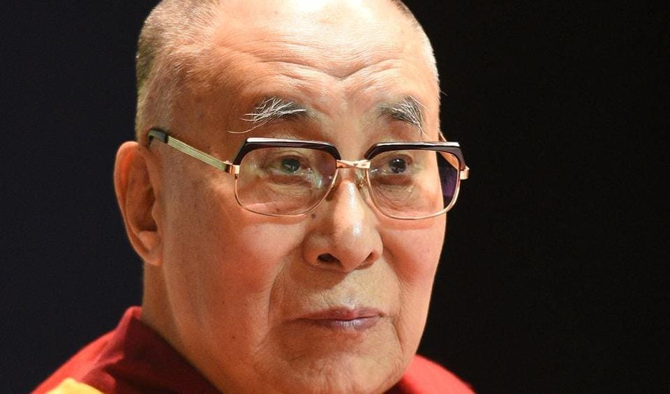 Tibetan spiritual leader Dalai Lama in New Delhi, April 22, 2018