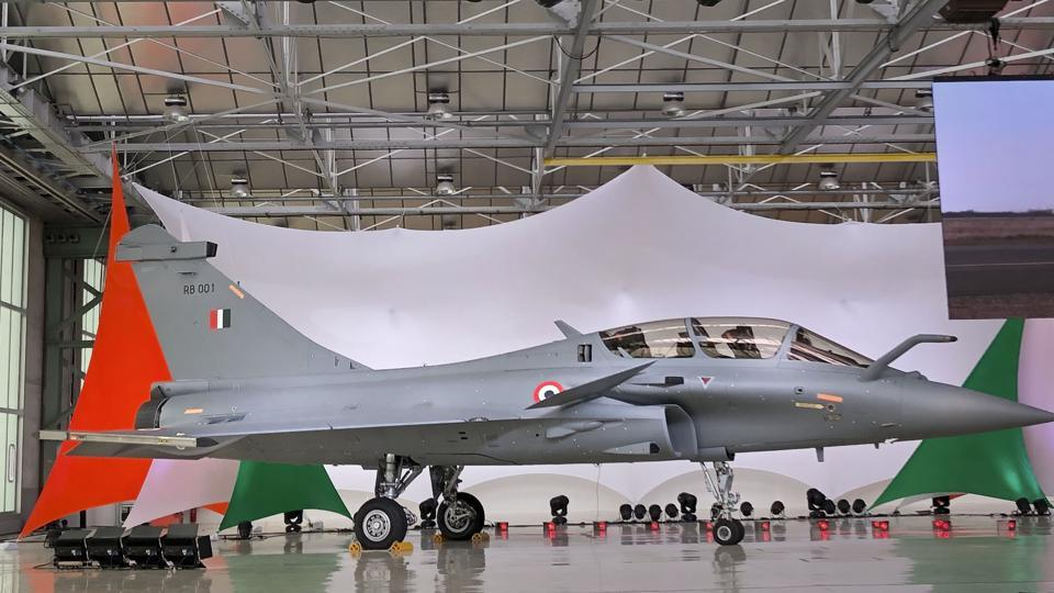 A view of Rafale Jet at its Dassault Aviation assembly line, in Bordeaux, France. (Photo: PTI)