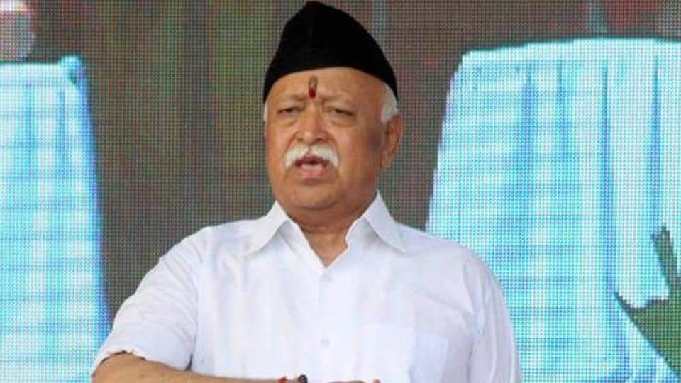 """""""Too much discussion"""" about the """"so-called"""" economic slowdown leads to decline in economic activity, RSS chief Mohan Bhagwat has said."""