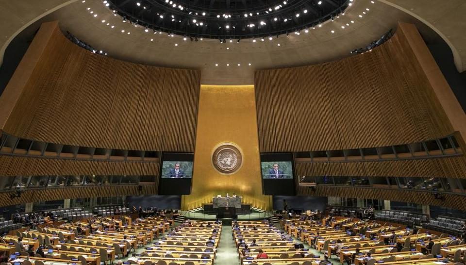 The United Nations General Assembly at the U.N. headquarters, New York.