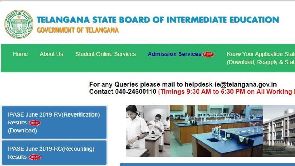 TSBIE has declared the recounting and reverification results of Telangana Intermediate Public Advanced Supplementary Examination (IPASE) 2019.
