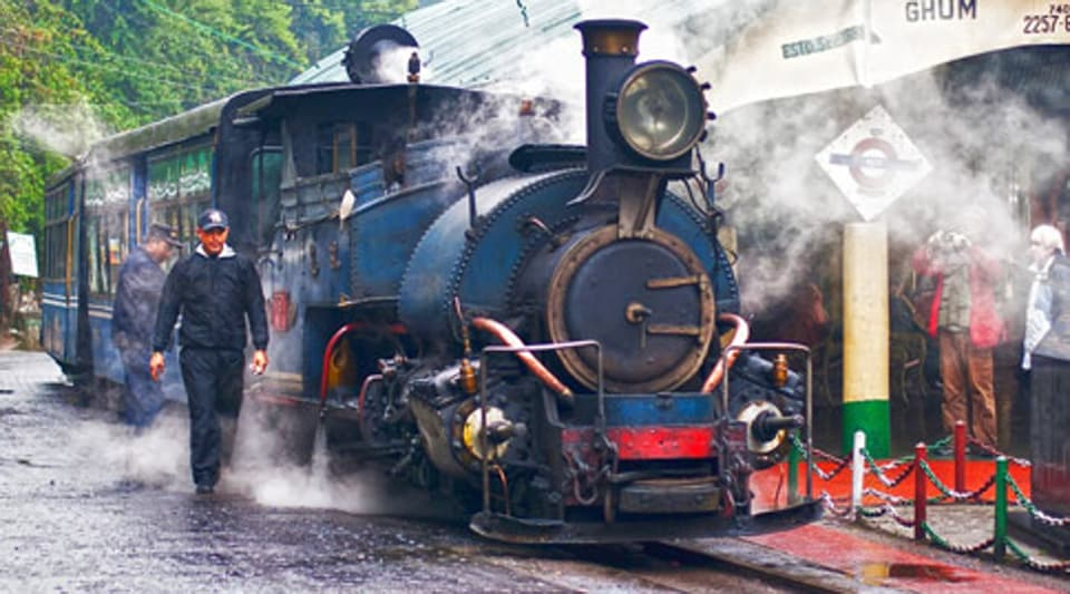The tourist and  his family had boarded the train in the morning for a ride from Darjeeling to Ghoom.
