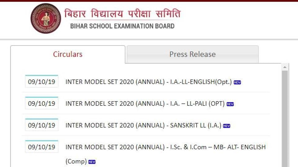 Bihar School Education Board has released the sample question paper for BSEB 12th board exam 2020 on its official website.