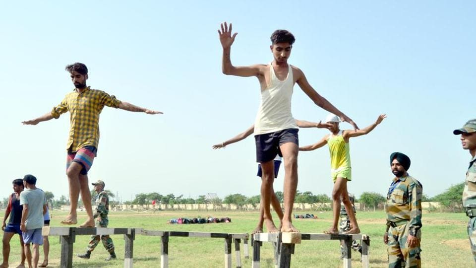 Youth from J-K forward areas participate in  the Territorial Army recruitment drive. (Representational image)