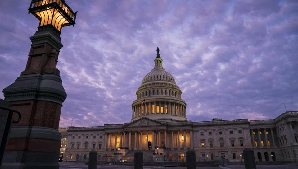 The Capitol in Washington is seen at dawn.
