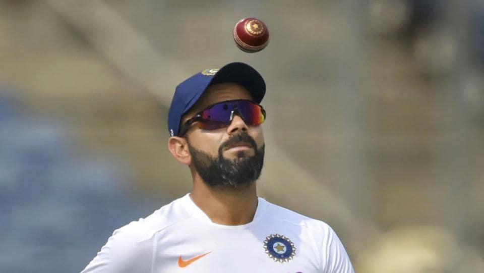Pune: Indian cricket team captain Virat Kohli during a practice session.