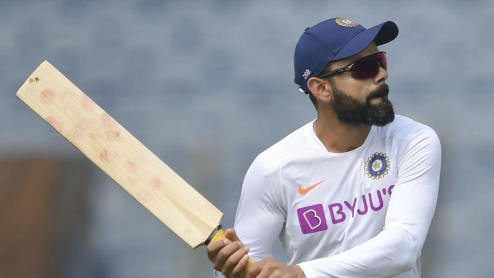 Pune: Indian cricket team captain Virat Kohli in action during a practice session.