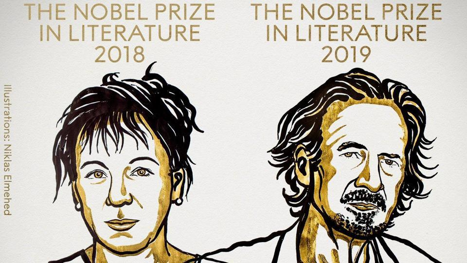 The Swedish Academy on Thursday awarded two Nobel Prizes for Literature.