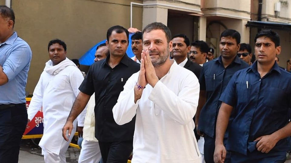 Rahul Gandhi appeared before a Surat court in a defamation case on Thursday, October 10, 2019.