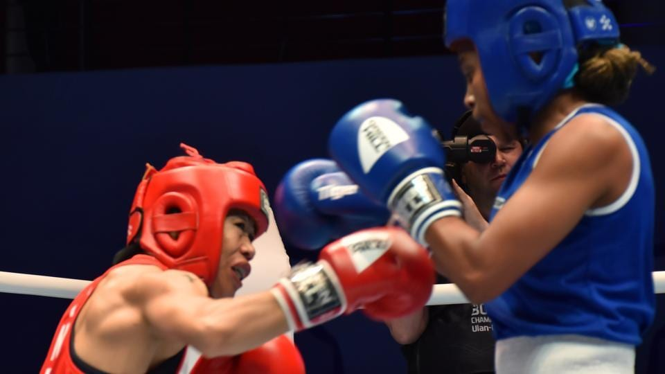 Mary Kom in action at World Boxing Championships.