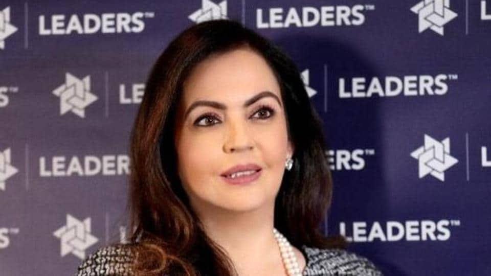 Nita Ambani, chairperson and founder of the Reliance Foundation at the event in London