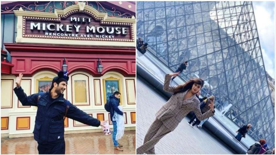 Sushant Singh Rajput and Rhea Chakraborty appear to be vacationing together in Paris.