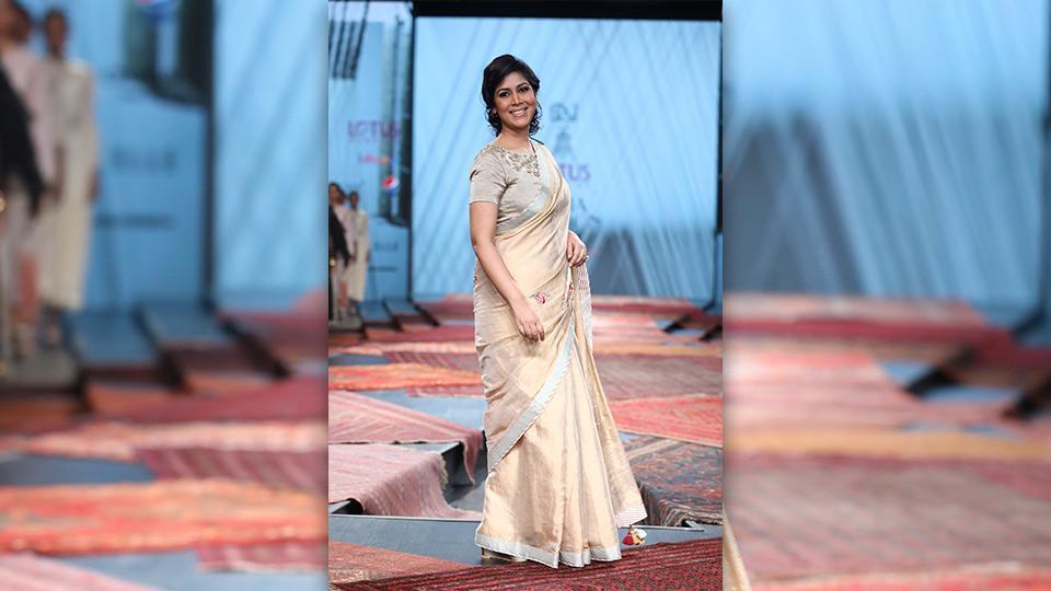 Actor Sakshi Tanwar played muse to designer Pratima Pandey.