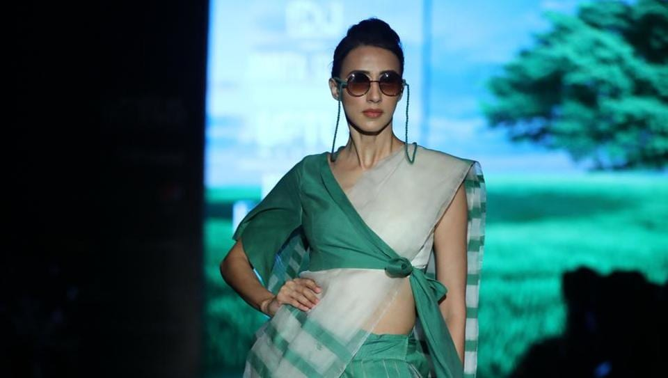 Collection by Amita Gupta Sustainable showcased at the The Lotus Make-up India Fashion Week SS'20.