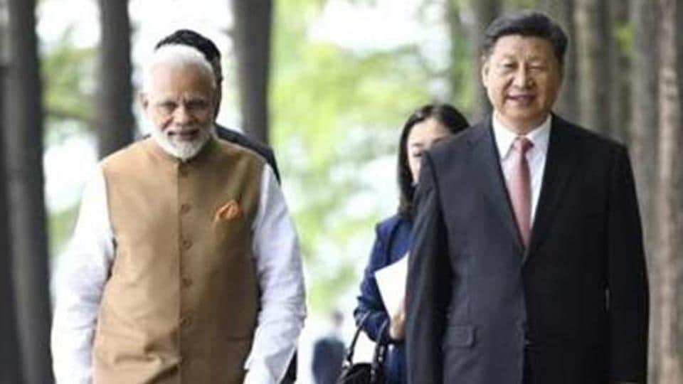 PM Modi with Chinese President Xi