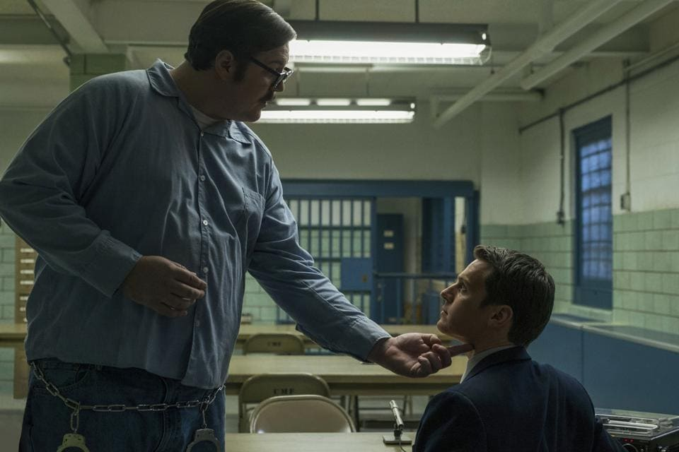 Ed Kemper (The Co-ed Killer) played by Cameron Britton assists FBI agents in the Netflix series