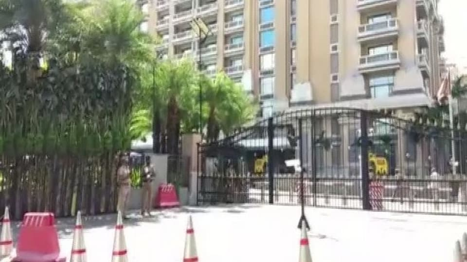 Security Tightened at ITC Hotel where the Chinese president Xi Jinping will stay during his visit.