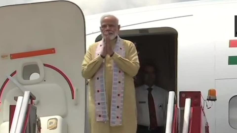 Prime Minister Narendra Modi arrived in Chennai on Friday morning for his informal summit with Chinese President Xi Jinping in Mamallapuram.