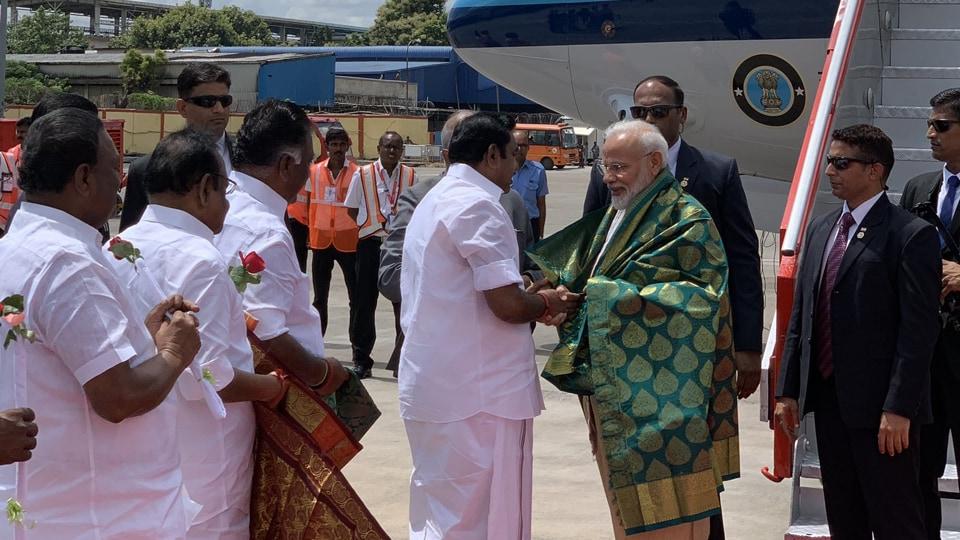 Prime Minister Narendra Modi flew to Mamallapuram whereas Xi Jinping will be landing shortly.