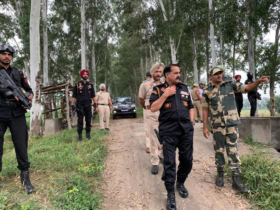 Police conducting search operation at districts bordering Pakistan