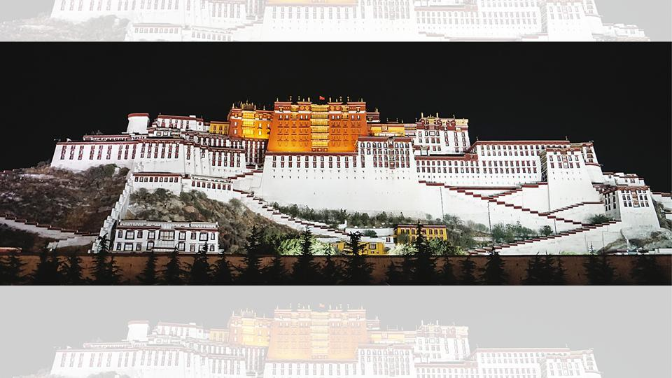 The majestic Potala Palace in Lhasa was once the winter palace of the Dalai Lamas