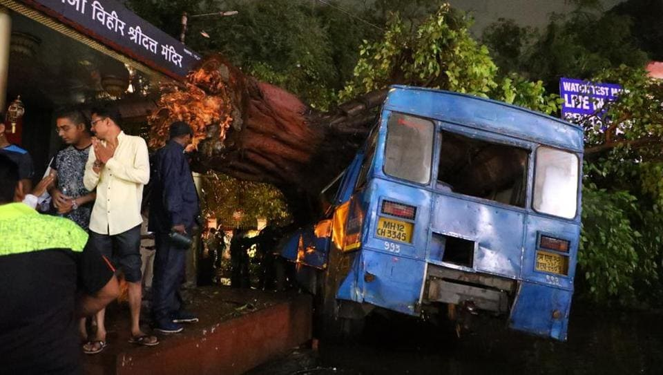 On Wednesday, a Pune Mahanagar Parivahan Mahamandal Limited (PMPML) bus driver, Vijay Nivangune, 40, lost his life after a tell fell on the bus on Tilak road following heavy rains in the city.