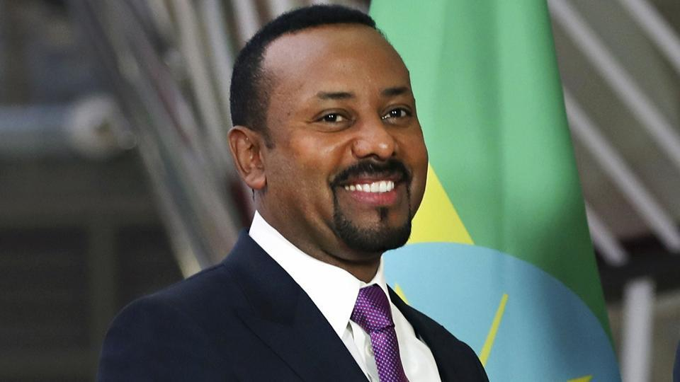 Ethiopian Prime Minister Abiy Ahmed at the European Council headquarters in Brussels. The 2019 Nobel Peace Prize was given to Ethiopian Prime Minister Abiy Ahmed on Friday.