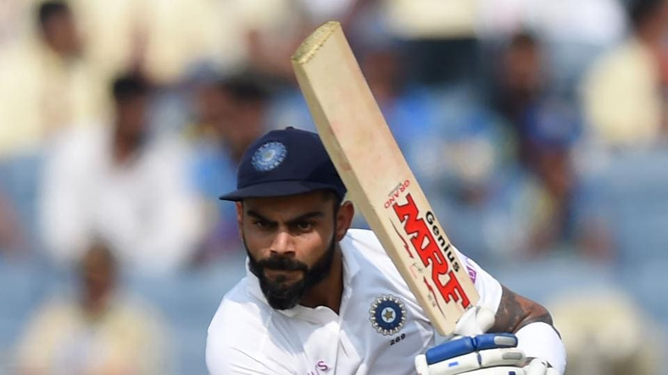 Indian captain Virat Kohli plays a shot during the second day of the second Test.