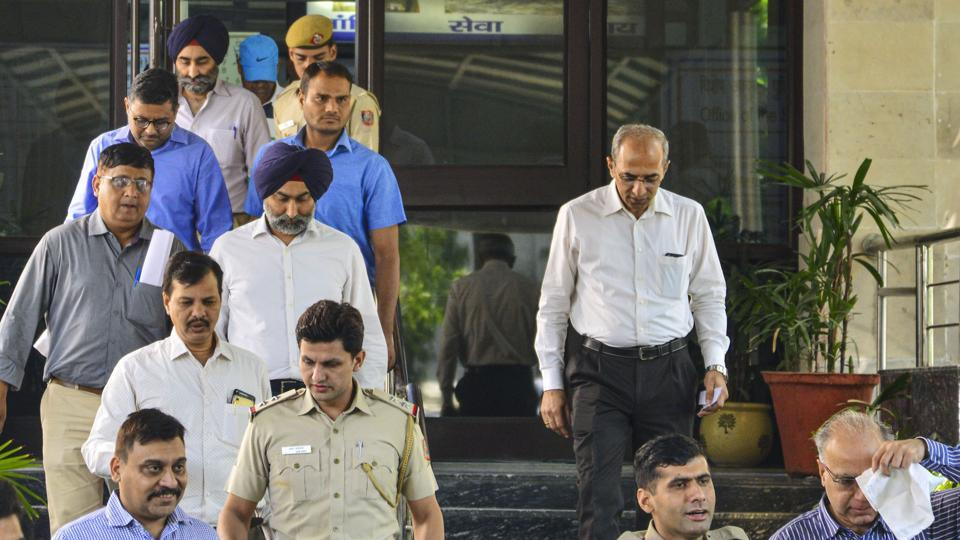 Former promoters of pharmaceutical giant Ranbaxy, Shivinder Singh, his elder brother Malvinder Singh and three others arrested by the Economic Offences Wing (EOW) of Delhi Police for allegedly misappropriating funds of Religare Finvest Limited (RFL) to the tune of Rs 2,397 crore, in New Delhi on Friday.