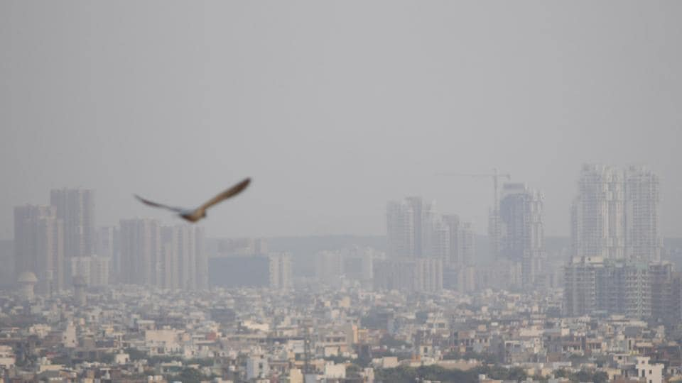 A view of the city skyline, in Gurugram, India, on Wednesday, October 09, 2019. On Wednesday, the AQI in the city fell to moderate after three weeks. The AQI on Tuesday was satisfactory. AQI is likely to be in the moderate category this week.