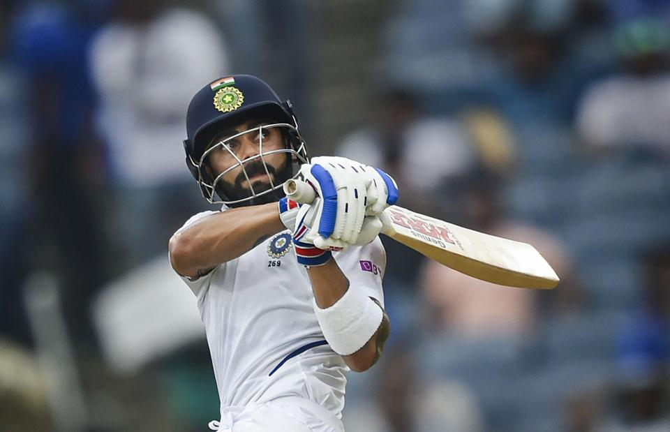 Indian cricket team captain Virat Kohli plays a shot.