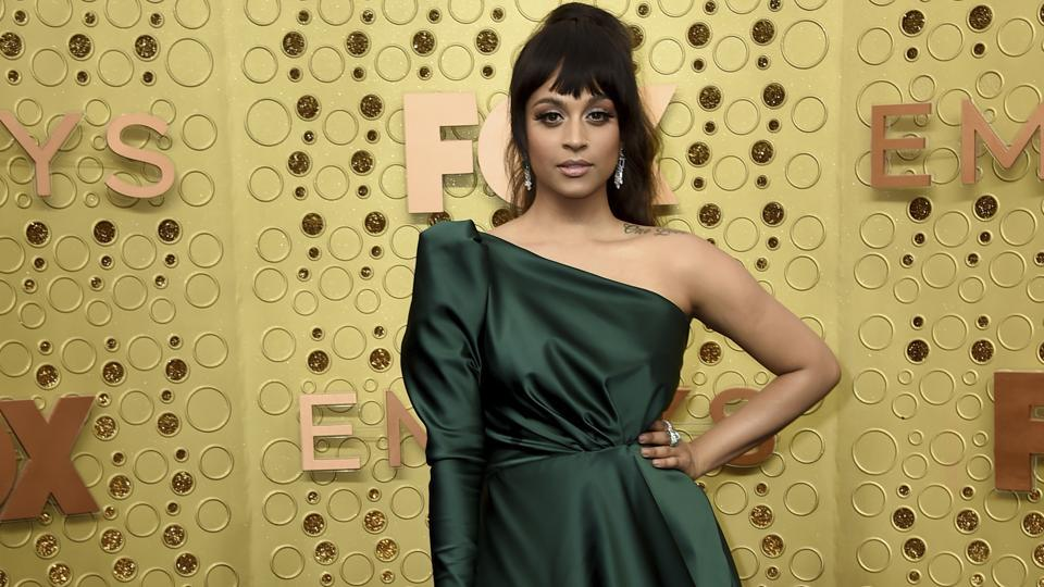 Lilly Singh arrives at the 71st Primetime Emmy Awards on Sunday, Sept. 22, 2019, at the Microsoft Theater in Los Angeles. (Photo by Jordan Strauss/Invision/AP)