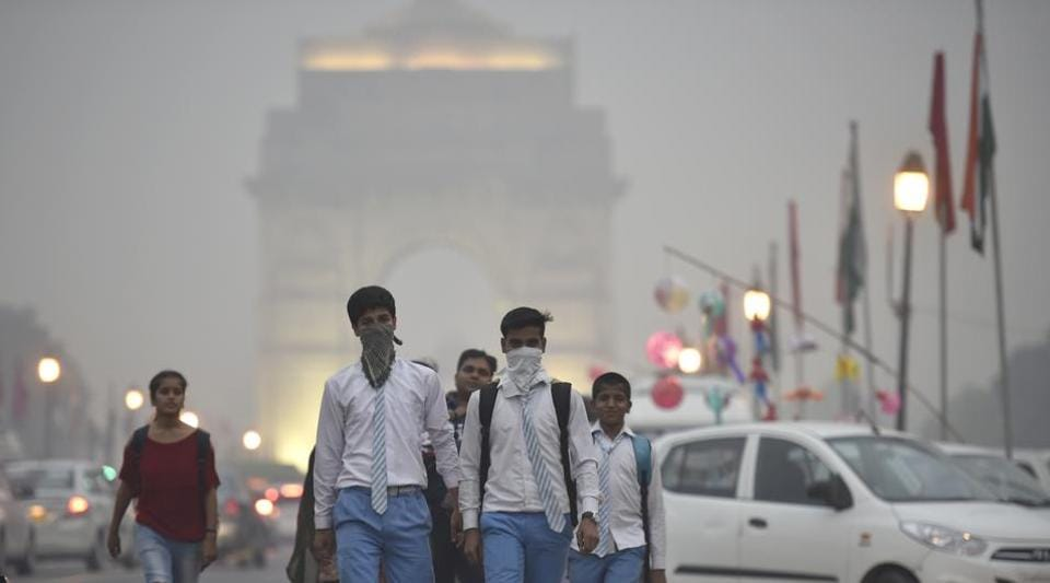 The national capital's air quality fell into 'poor' category.
