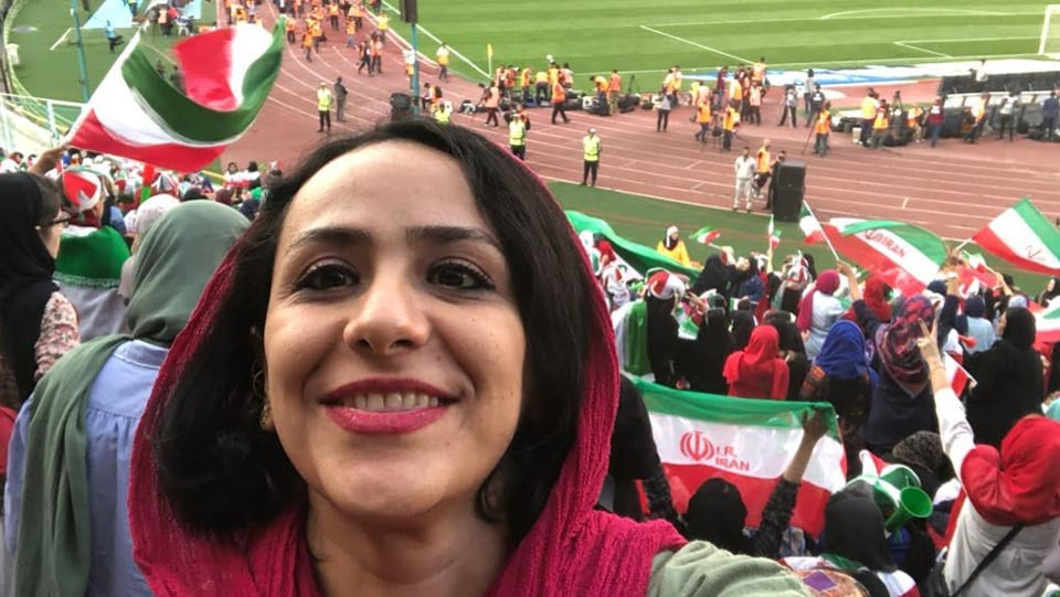 Iranian women were allowed to watch a football match for the first time in 40 years