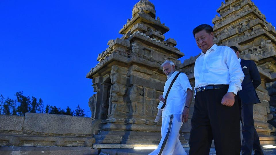 Prime Minister Narendra Modi and President Xi Jinping had a conversation, with only their translators present, at the Pancha Ratha, a monument with five chariots hewn out of solid rock, that lasted almost 15 minutes.