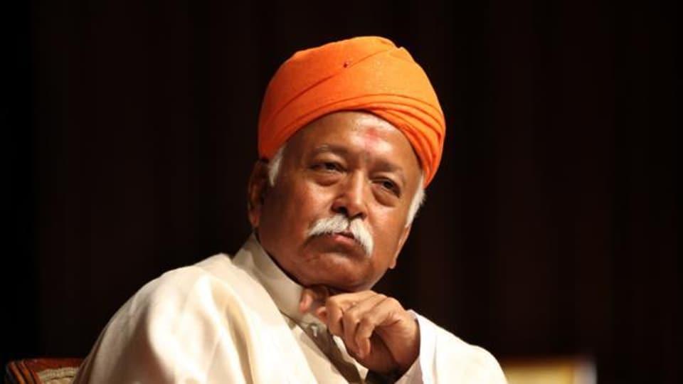 A file photo of Rashtriya Swayamsevak Sangh chief Mohan Bhagwat