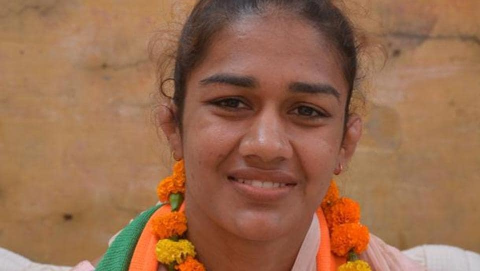 Wrestler Babita Phogat, BJP candidate from Dadri, poses for a picture during her campaign for the upcoming Haryana Vidhan Sabha elections at Dadri village, in Haryana.