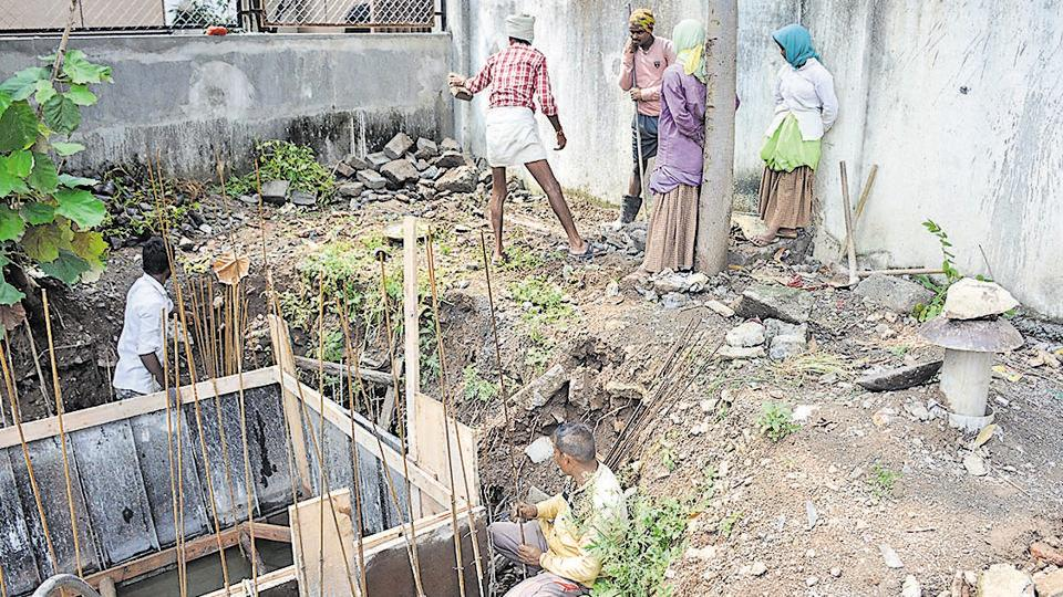 The site of Smart City project in Balewadi where a labourer almost cut through his leg while working through a grinding machine.
